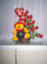 Balloon and Teddy Bear Roses